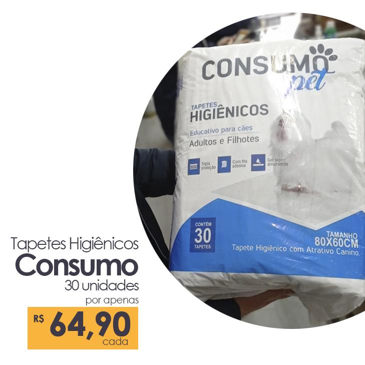 Tapetes Higiênicos Consumo 30 unidades